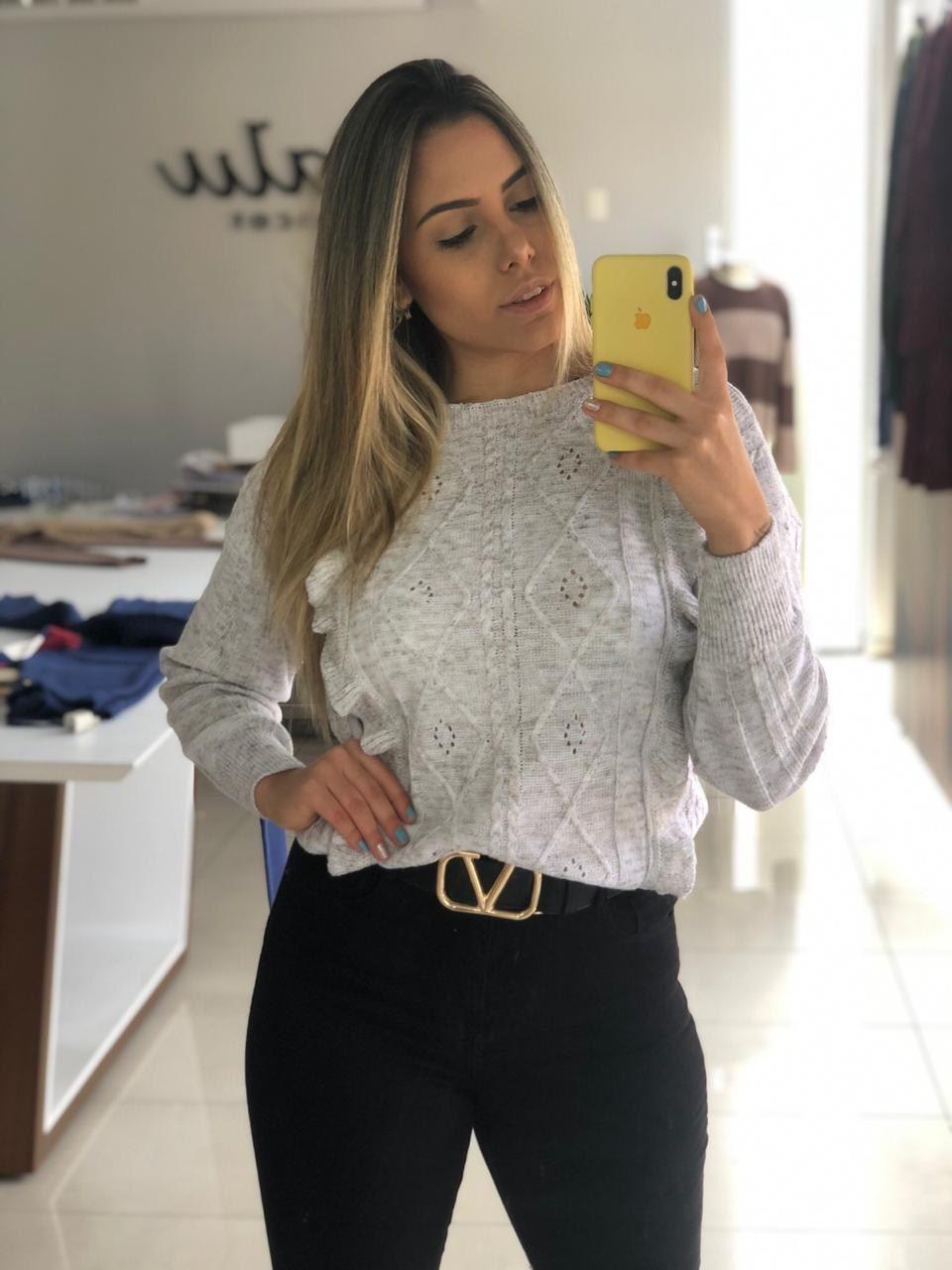 BLUSA BELA BABADOS - 083